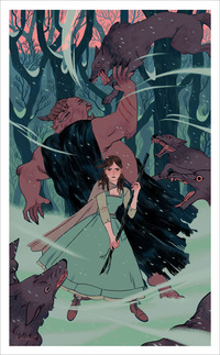 Wolves in Winter (PRINT), Sara Kipin