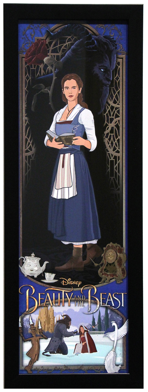Beauty is Her Name by Joe Dunn (framed  limited edition 1 of 10), Beauty and the Beast  (2017)