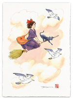 First Flight (Kiki's Delivery Service) - Print, Jed Henry