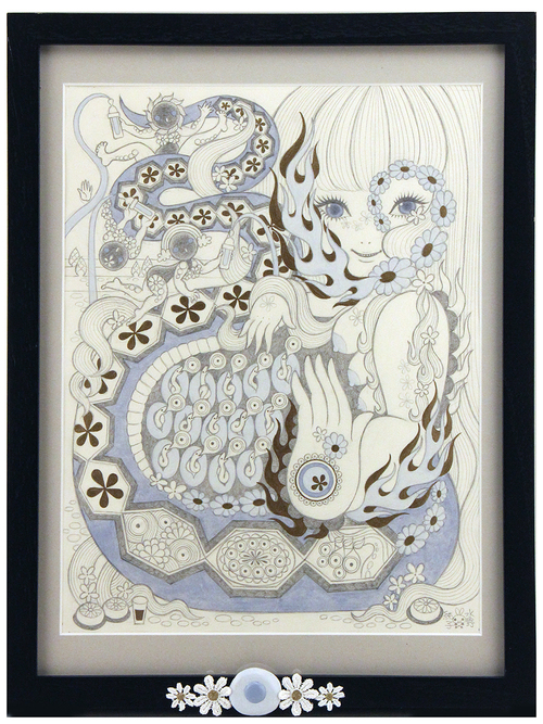 OVUM: Snake Mother, Pencil Drawing, Junko Mizuno