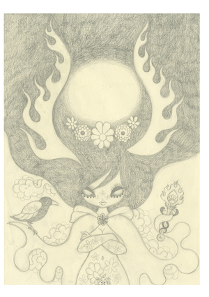 Ravina Cover Art Study 2: Pencil Drawing(Unframed), Junko Mizuno
