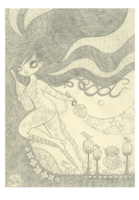 Ravina Cover Art Study 1: Pencil Drawing (Unframed), Junko Mizuno