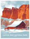 Capitol Reef (The Fifty-Nine Parks Print Series), Claire Hummel