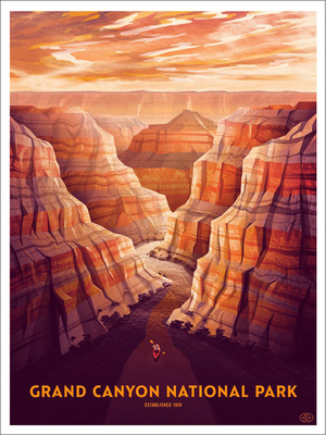 Grand Canyon (The Fifty-Nine Parks Print Series), Dan Kuhlken