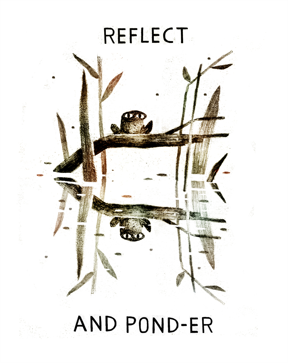 Ponder & Reflect Frog (with text), Jon Klassen