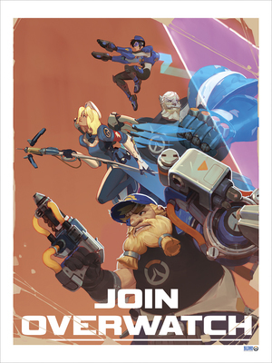 Join Overwatch Recruitment Poster by Vasili Zorin (PRINT)