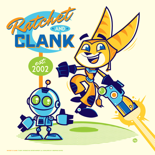 Cyclops Print Works: DAVE PERILLO Ratchet & Clank (PRINT), Dave Perillo