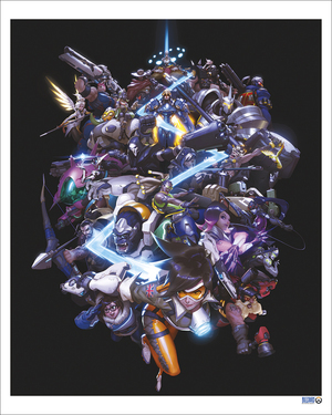 The Art of Overwatch Cover (PRINT) by Arnold Tsang