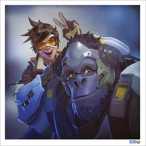 Tracer & Winston (PRINT) by Laurel Austin