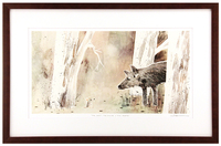 The Wolf, The Duck, & The Mouse Pg. 1-2 (framed), Jon Klassen