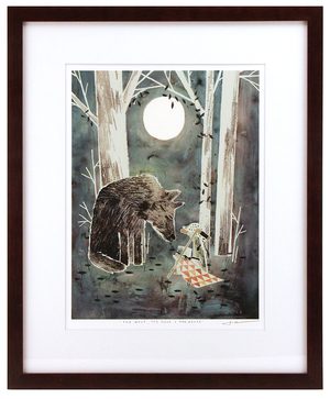 The Wolf, The Duck, & The Mouse Pg. 33 (framed), Jonathan Klassen