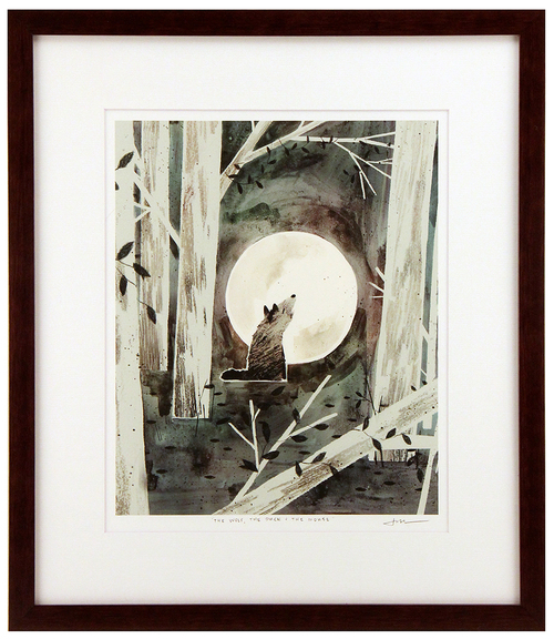 The Wolf, The Duck, & The Mouse Pg. 37 (framed), Jon Klassen