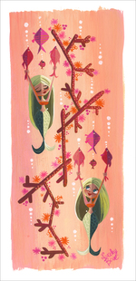 Fishy Mermaids (Print), Lorelay Bove