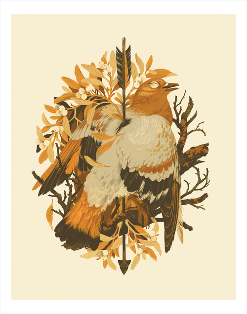Ritual of Oak & Mistletoe (print), Teagan White