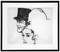Movie Poster Sketch for My Fair Lady (Audrey Hepburn and Rex Harrison), Bob Peak