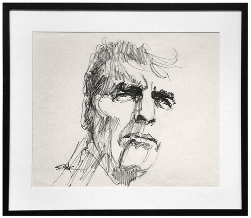 Portrait of Actor Burt Lancaster , Bob Peak