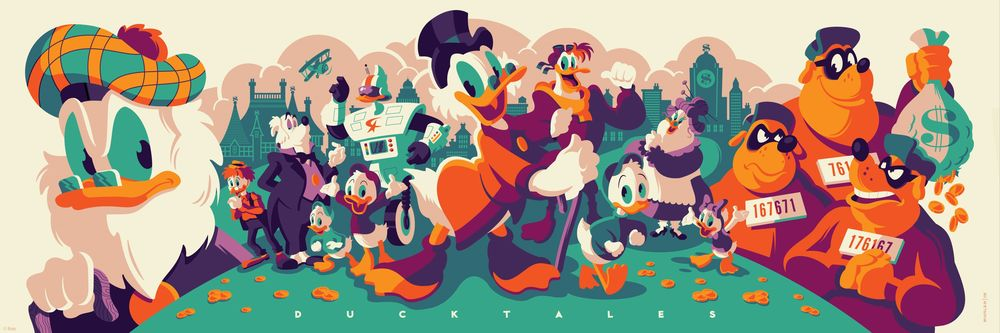 CYCLOPS PRINT WORKS: Ducktales (Flintheart Glomgold Edition) by Tom Whalen