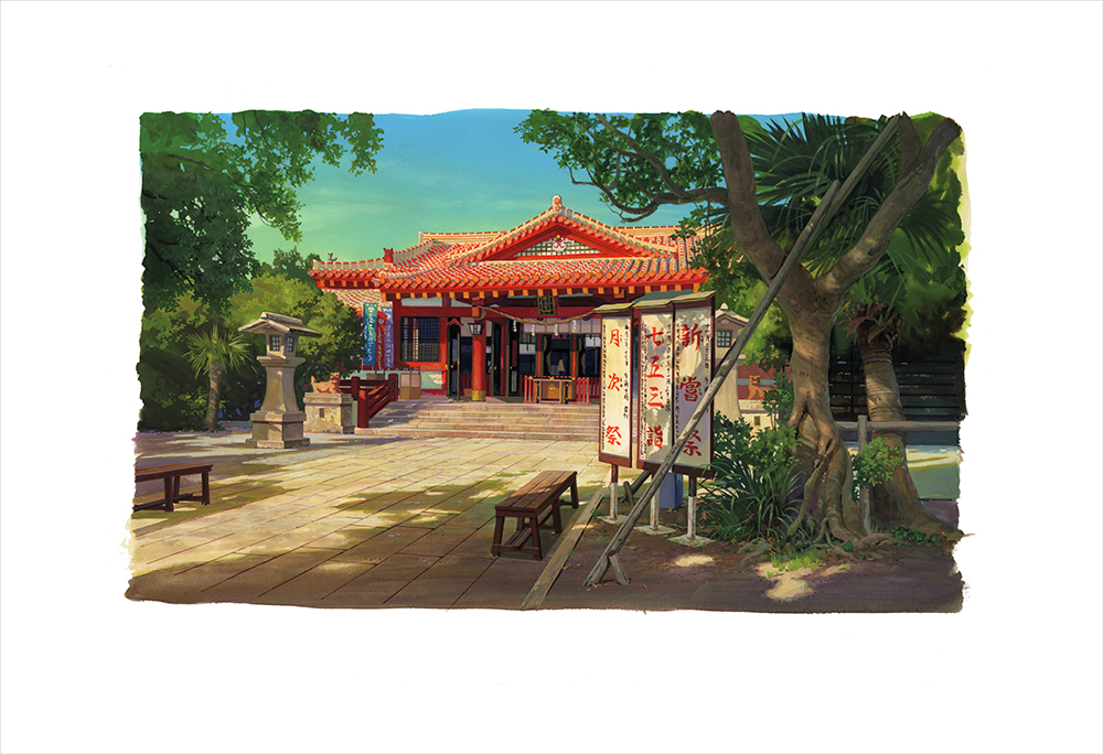 Naminoue Shrine(print), Yoichi Nishikawa