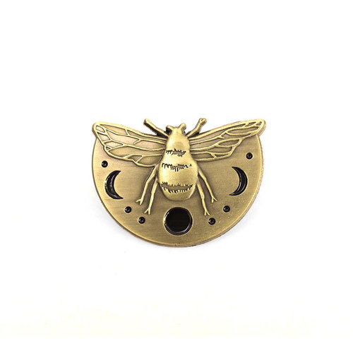 Polanshek of the Hills Lunar Bee Enamel Pin - Lost Lust Supply