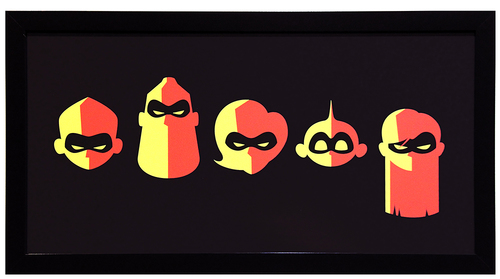 Cyclops Print Works Print #80: by Eric Tan (FRAMED #1), Incredibles 2
