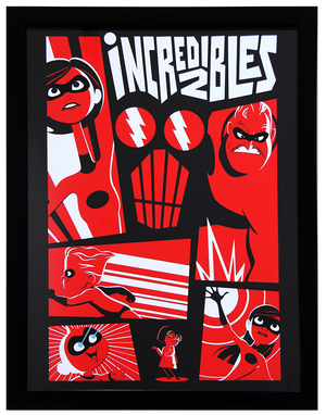 Cyclops Print Works Print #78: by Bryan Mon (FRAMED #1), Incredibles 2