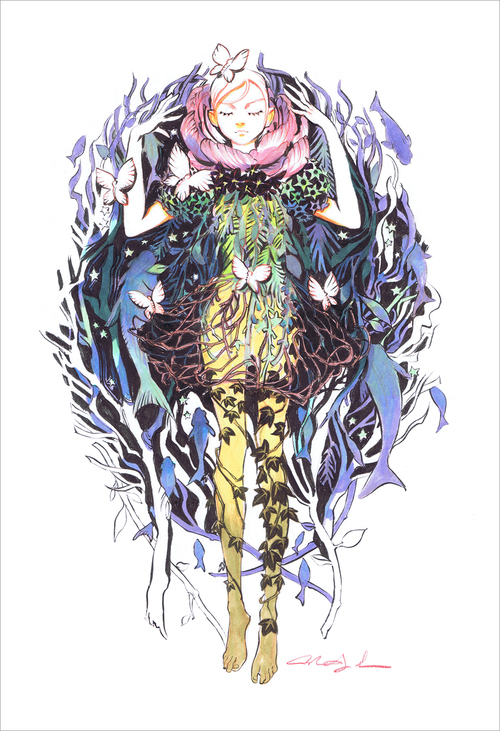 Ophelia (print), Mindy Lee