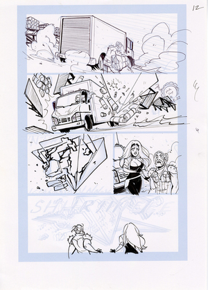 Motor Crush Vol. 2 Original Comic Page #12 (UNFRAMED), Babs Tarr