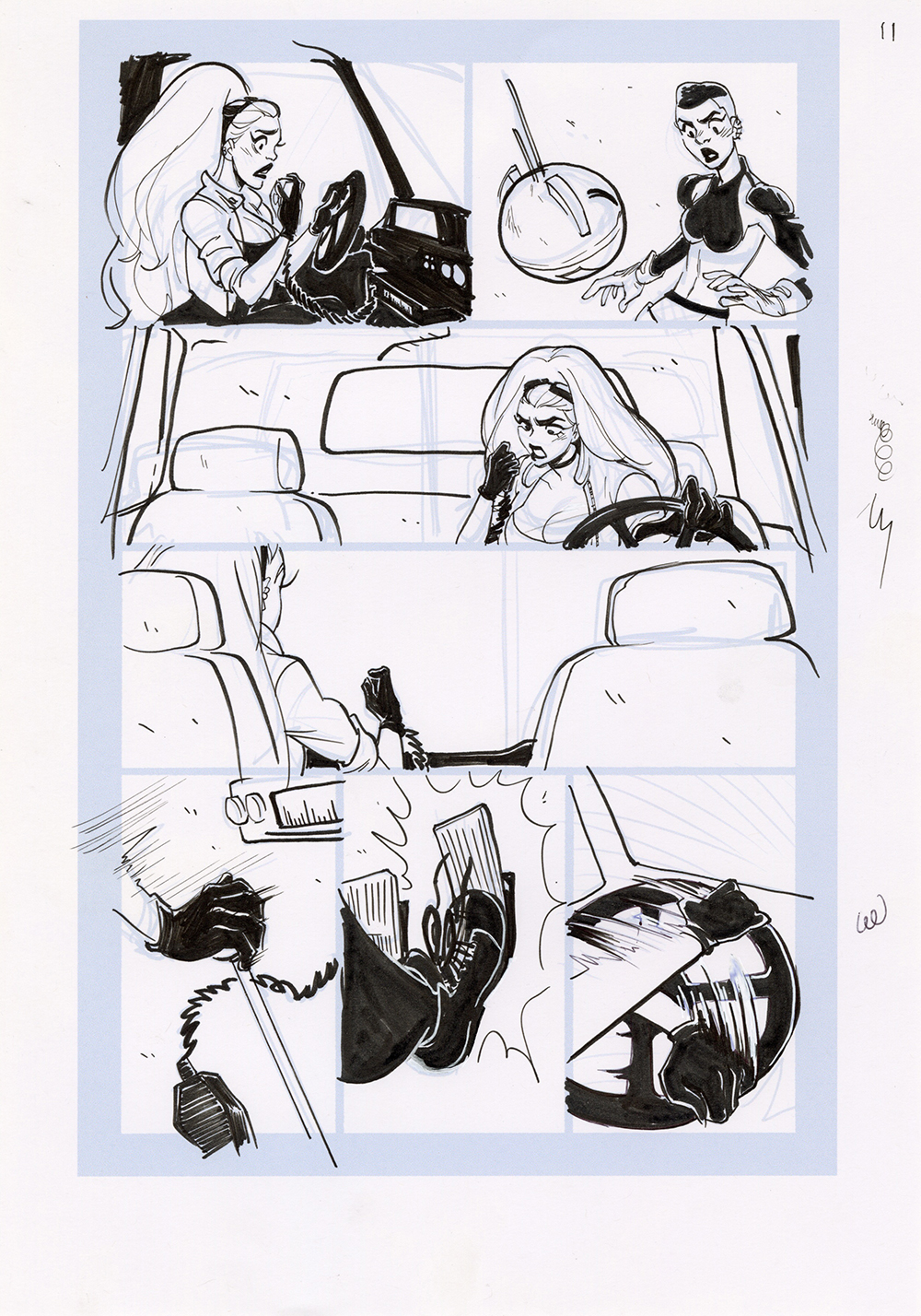 Motor Crush Vol. 2 Original Comic Page #11 (UNFRAMED), Babs Tarr