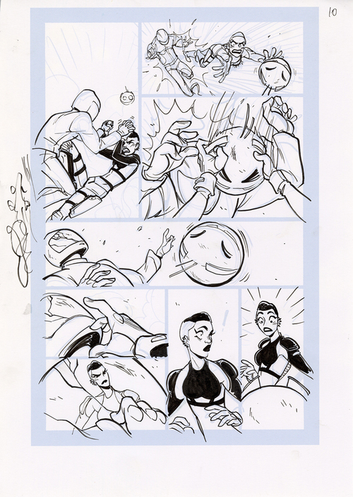 Motor Crush Vol. 2 Original Comic Page #10 (UNFRAMED), Babs Tarr