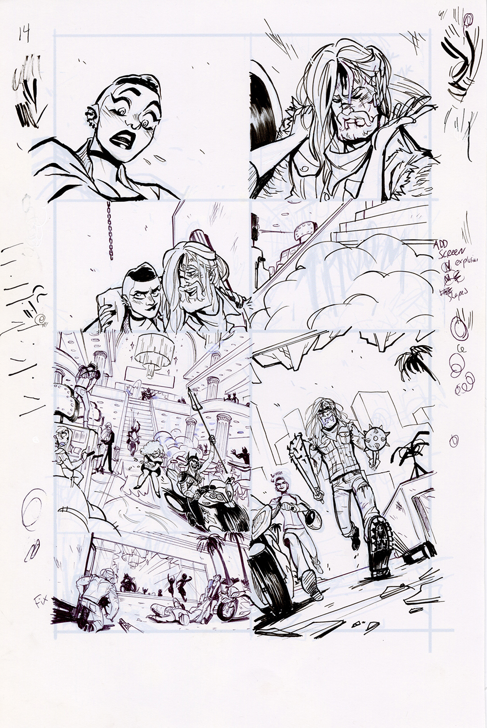 Motor Crush Vol. 2 Original Comic Page #14 (UNFRAMED), Babs Tarr