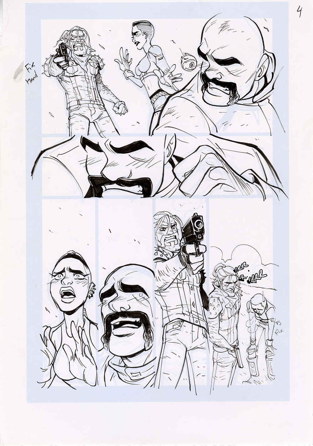 Motor Crush Vol. 2 Original Comic Page #4B (UNFRAMED), Babs Tarr