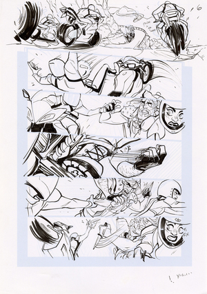 Motor Crush Vol. 2 Original Comic Page #6B (UNFRAMED), Babs Tarr
