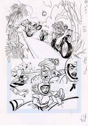 Motor Crush Vol. 2 Original Comic Page #7B (UNFRAMED), Babs Tarr