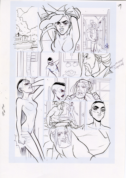 Motor Crush Vol. 2 Original Comic Page #9B (UNFRAMED), Babs Tarr