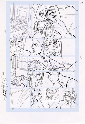 Motor Crush Vol. 2 Original Comic Page #10B (UNFRAMED) , Babs Tarr