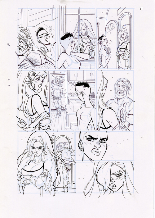 Motor Crush Vol. 2 Original Comic Page #11B (UNFRAMED) , Babs Tarr