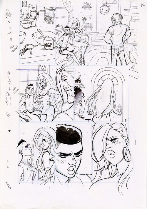 Motor Crush Vol. 2 Original Comic Page #12 (UNFRAMED) , Babs Tarr