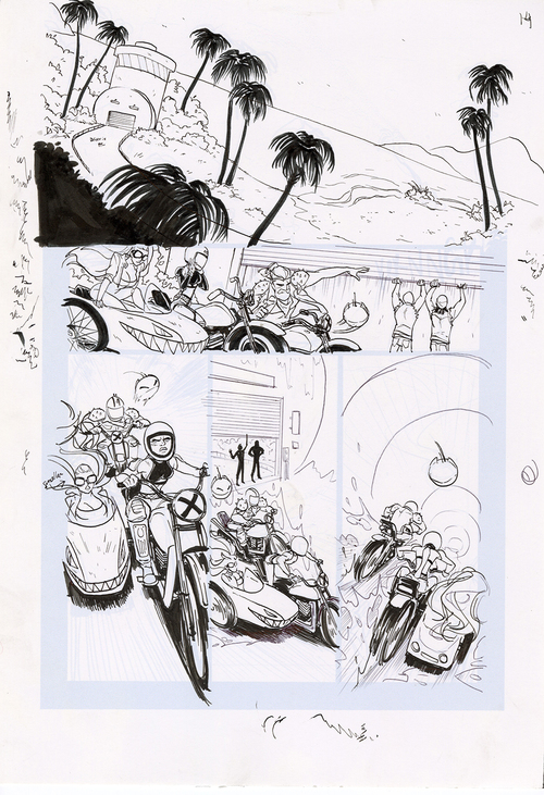 Motor Crush Vol. 2 Original Comic Page #14B (UNFRAMED) , Babs Tarr