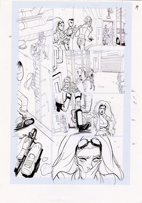 Motor Crush Vol. 2 Original Comic Page #19 (UNFRAMED) , Babs Tarr