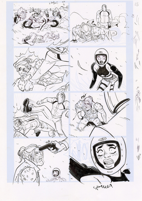 Motor Crush Vol. 2 Original Comic Page #18B (UNFRAMED) , Babs Tarr