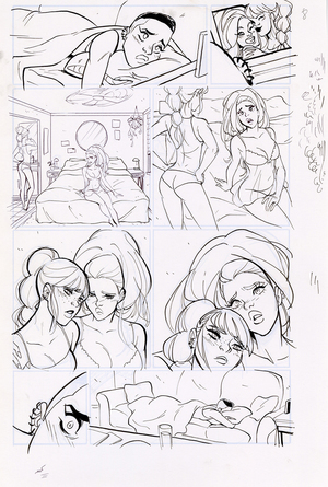 Motor Crush Vol. 2 Original Comic Page #8B (UNFRAMED) , Babs Tarr