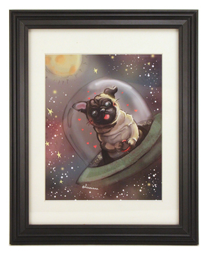 Pug in Space, dessienn