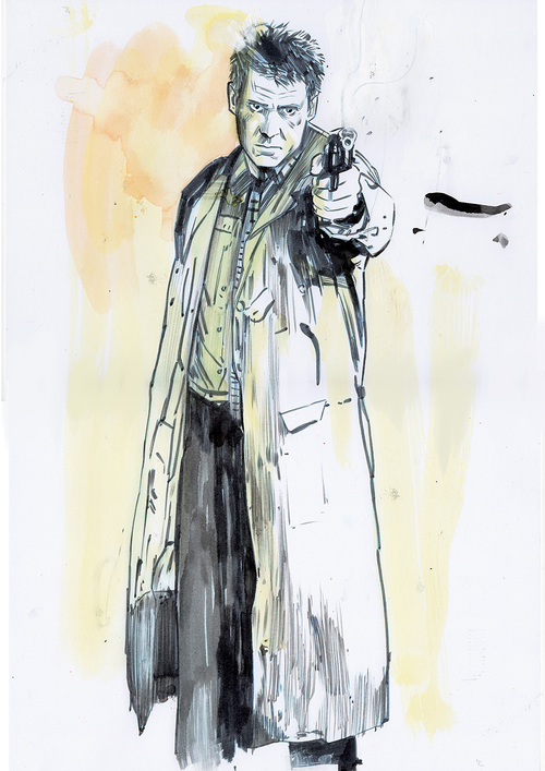 Deckard with Gun (Unframed), TULA LOTAY