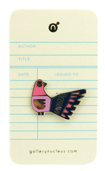 Chris Haughton Shhh Bird - Nucleus Enamel Pin, Chris Haughton