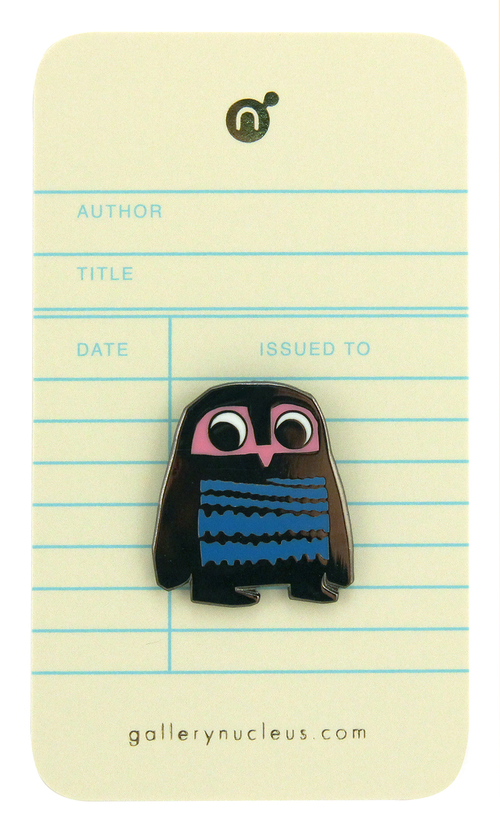 Chris Haughton A bit Lost Owl - Nucleus Enamel Pin, Chris Haughton