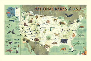 National Parks of the USA (large print), Chris Turnham