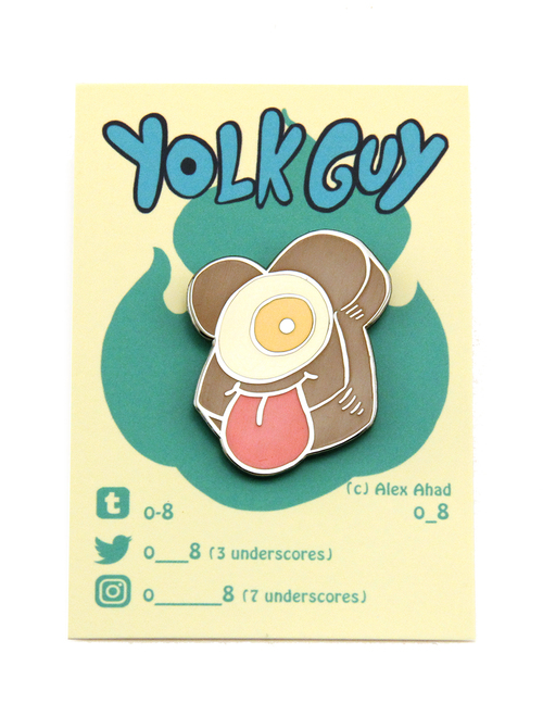 Yolk Guy Enamel Pin (Alex Ahad), Alex Ahad o_8