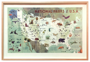 National Parks of the USA Framed & Signed, Chris Turnham