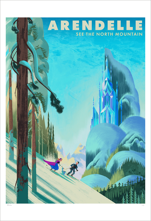 Arendelle See The North Mountain  (print), Eva Vilhelmiina Eskelinen