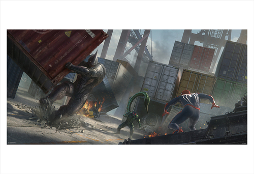 Marvel's Spider-Man: Rhino and Scorpion Concept (print), Insomniac Games